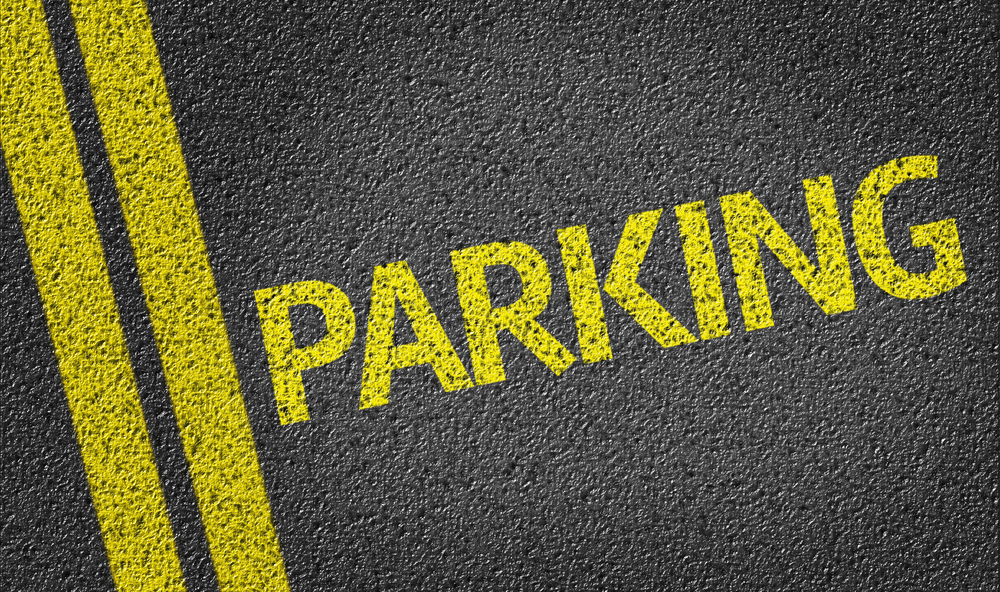 Image of Parking written on the road - Car Park Painting in Melbourne